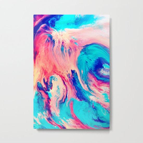 Spill Metal Print