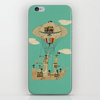 pirates iPhone & iPod Skins featuring sky pirates by bri.buckley