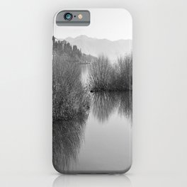 Lakescape in bw iPhone Case