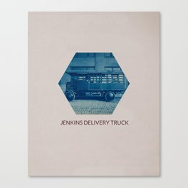 JENKINS DELIVERY TRUCK Canvas Print
