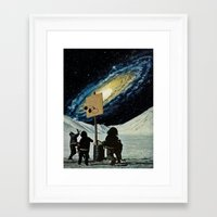 space jam Framed Art Prints featuring Space Jam  by Daniel Madeline