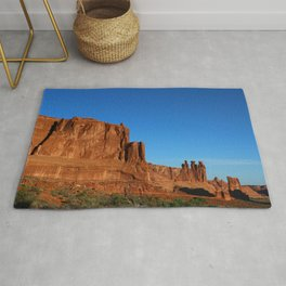 Red Sandstone Landscape of the Arches Park Rug