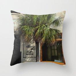 Charleston Cool Inside Throw Pillow