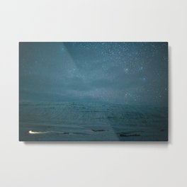 Stary Night Iceland Metal Print
