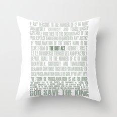 The Riot Act Throw Pillow