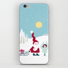 Santa and the little Angel iPhone Skin