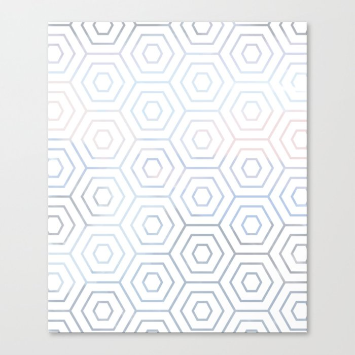 Bee Hive Pattern Blue No.2 Canvas Print