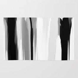 Soft Determination Black & White Rug