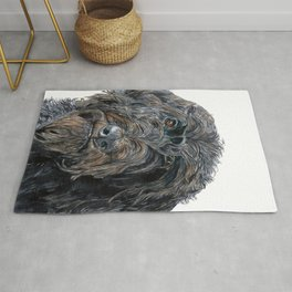Pokey the Black Labradoodle Rug