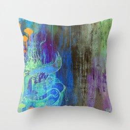 Enchanted Bunny Beats The Burst Throw Pillow