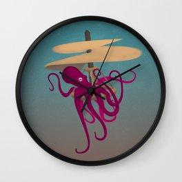 Flying Octopus Wall Clock