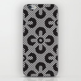 Black lace flowers pattern iPhone Skin