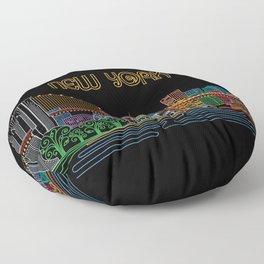 New York Circuit Floor Pillow
