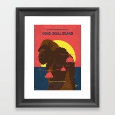 No799 My SKULL ISLAND minimal movie poster Framed Art Print