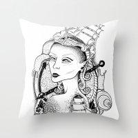 sailor Throw Pillows featuring SAILOR by • PASXALY •