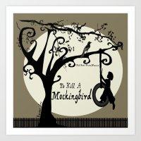 to kill a mockingbird Art Prints featuring To Kill A Mockingbird by 2SmartCats