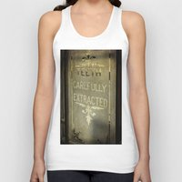 dentist Tank Tops featuring Victorian Dentist Sign by Adrian Evans