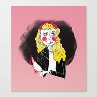 50s Canvas Prints featuring 50s Rebel by Rebecca Span