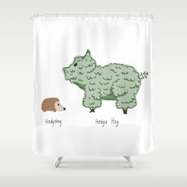 Hedgehog vs. Hedge Hog Shower Curtain