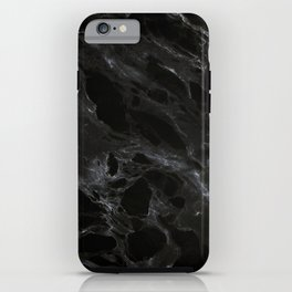 Black marble iPhone Case