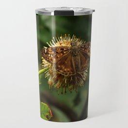 Moth on a Puffball Travel Mug