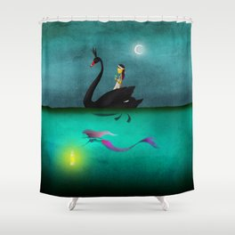 Bride & Gloom Shower Curtain