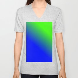 Green and blue Gradient / GFTgradient002 Unisex V-Neck