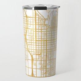 SALT LAKE CITY UTAH CITY STREET MAP ART Travel Mug