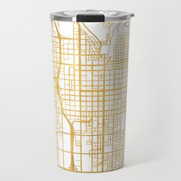 SALT LAKE CITY UTAH CITY STREET MAP ART Travel Mug