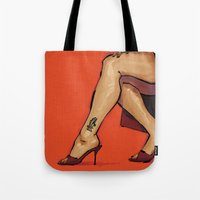 heels Tote Bags featuring Heels by Sherif Samy