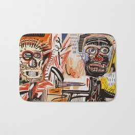 A vectorised Basquiat Bath Mat