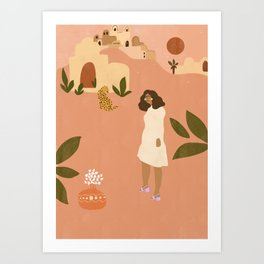 I want to go to Marrakech Art Print
