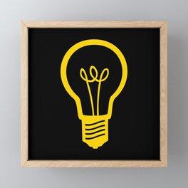 Yellow Lightbulb Framed Mini Art Print
