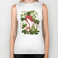 flamingo Biker Tanks featuring Flamingo by Fifikoussout