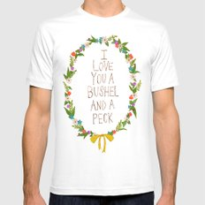 I love you and bushel and a peck MEDIUM Mens Fitted Tee White