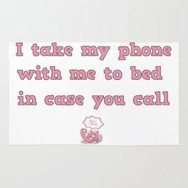 call me! Rug