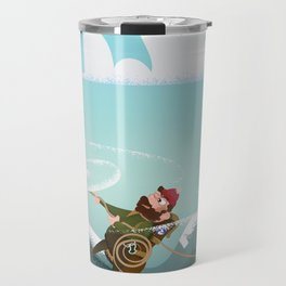 Rock Climbing Man Travel Mug