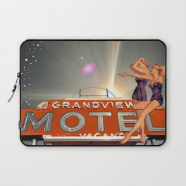 """Pin-Up Girl """"Midnight at the Grandview Motel"""" Laptop Sleeve"""