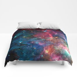 Cosmic Connection, Galaxy, Space, Nebula, Stars, Planet, Universe, Comforters