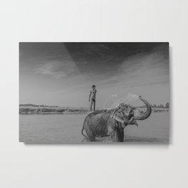 Nepali elephant Metal Print