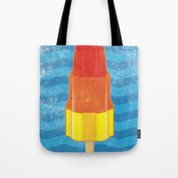 rocket Tote Bags featuring Rocket by Nicholas Darby