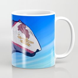 American Samoa flag waving on the wind Mug