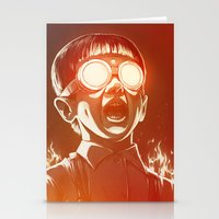 scary Stationery Cards featuring FIREEE! by Dr. Lukas Brezak