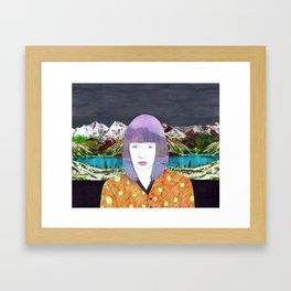 The girl by the lake by Veronique de Jong Framed Art Print