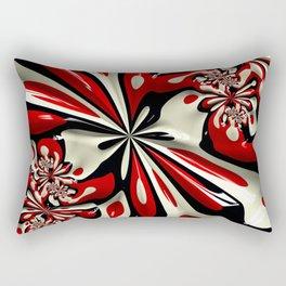 Red Moschino Splotch Rectangular Pillow