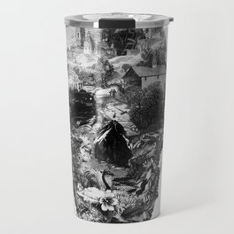 Town Skull B&W Travel Mug