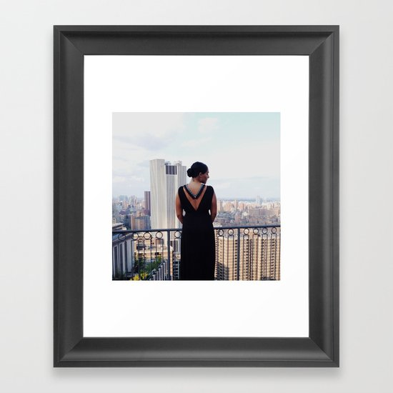 Eda Lourdes Accessories F/W 2014 NYC Photoshoot Framed Art Print