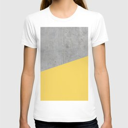 Concrete and Primrose Yellow Color T-shirt