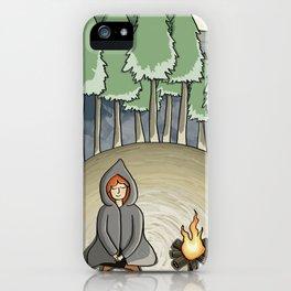 Campfire Girl iPhone Case
