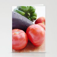 vegetables Stationery Cards featuring Vegetables by Carlo Toffolo